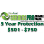 NEW LEAF Service Pro 3 Year Total Protection Plan ($501 to $750)