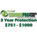 NEW LEAF Service Pro 3 Year Total Protection Plan ($751 to $1000)