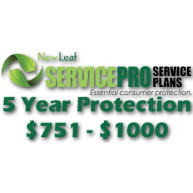NEW LEAF Service Pro 5 Year Total Protection Plan ($751 to $1000)