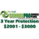 NEW LEAF Service Pro 3 Year Total Protection Plan ($2001 to $3000)