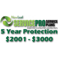 NEW LEAF Service Pro 5 Year Total Protection Plan ($2001 to $3000)