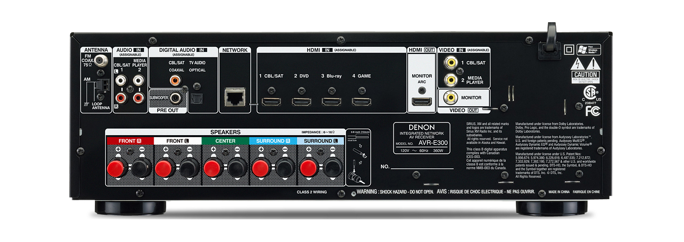 Denon Avr E300 5 1 3d Networking Receiver Airplay