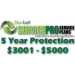 NEW LEAF Service Pro 5 Year Total Protection Plan ($3001 to $5000)