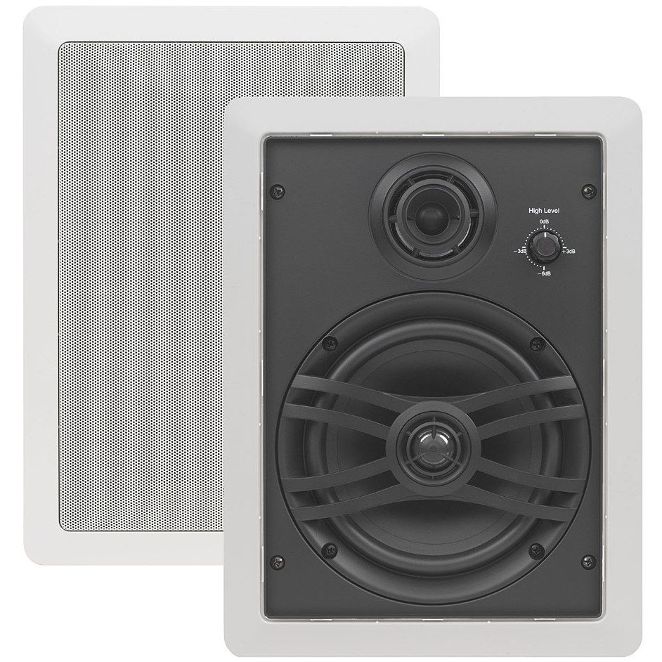Yamaha ns iw470 6 5 3 way natural sound in wall speakers pair accessories4less for Installing in wall speakers on exterior wall