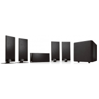 KEF T100 5.1 On Wall Speaker System same as T105 w/dif sub Black