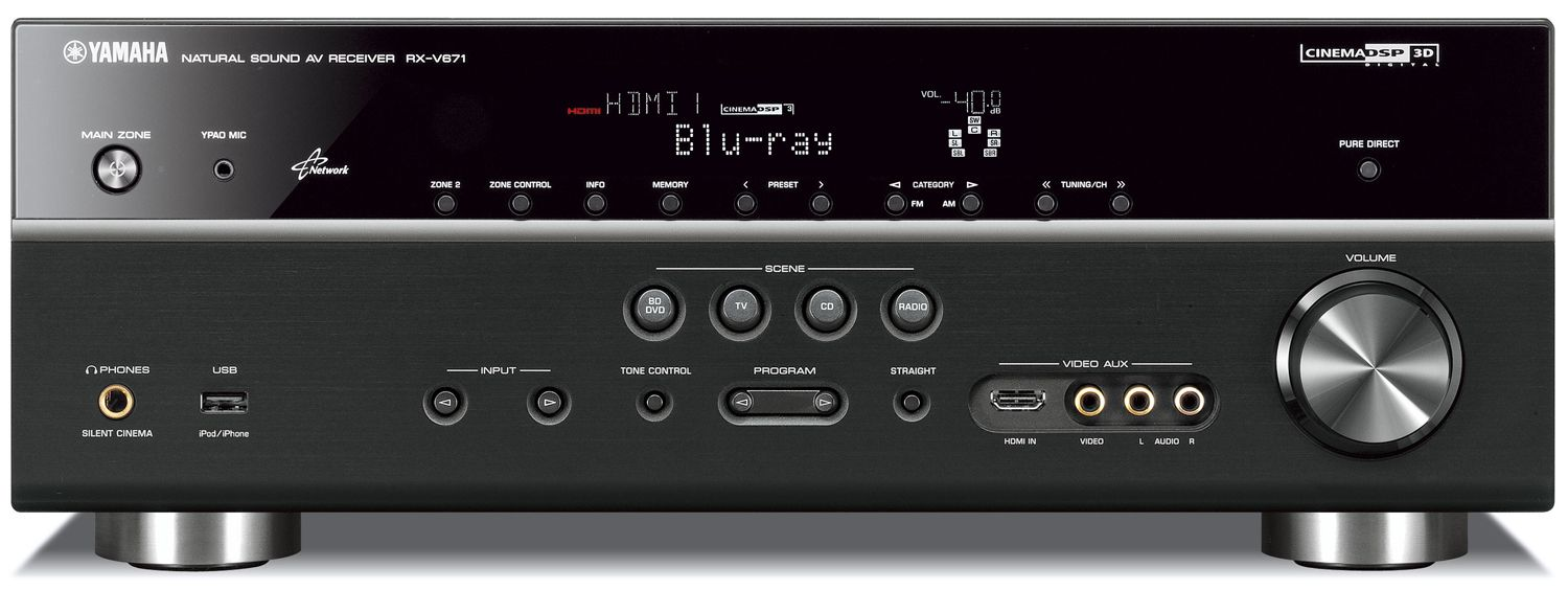 YAMAHA RX-V671 7.1-Channel Network AV Receiver