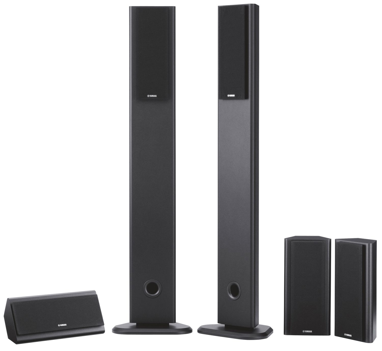 Yamaha ns pa120 5 piece home theater speaker package black for Yamaha ns 50 speaker pack