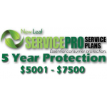 NEW LEAF Service Pro 5 Year Total Protection Plan ($5001 to $7500)