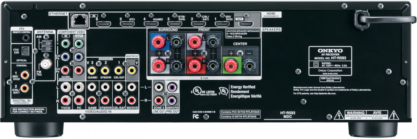 onkyo ht s5700 5 2ch network receiver 5 1 speaker package accessories4less