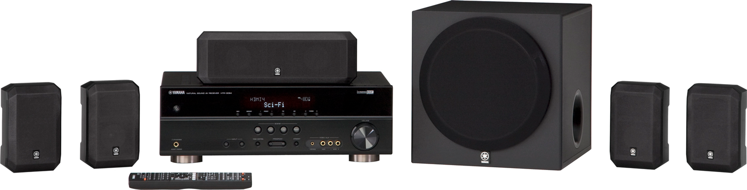 Yamaha yht 395bl 5 1 channel home theater system black for Yamaha 7 2 home theatre system