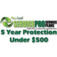 NEW LEAF Service Pro 5 Year Total Protection Plan (Under $500)