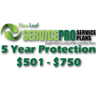 NEW LEAF Service Pro 5 Year Total Protection Plan ($501 to $750)