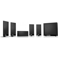 KEF T105 5.1 5.1-Channel Home Theater Speaker System Black
