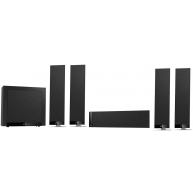 KEF T305 5.1-Channel Home Theater Speaker System Black
