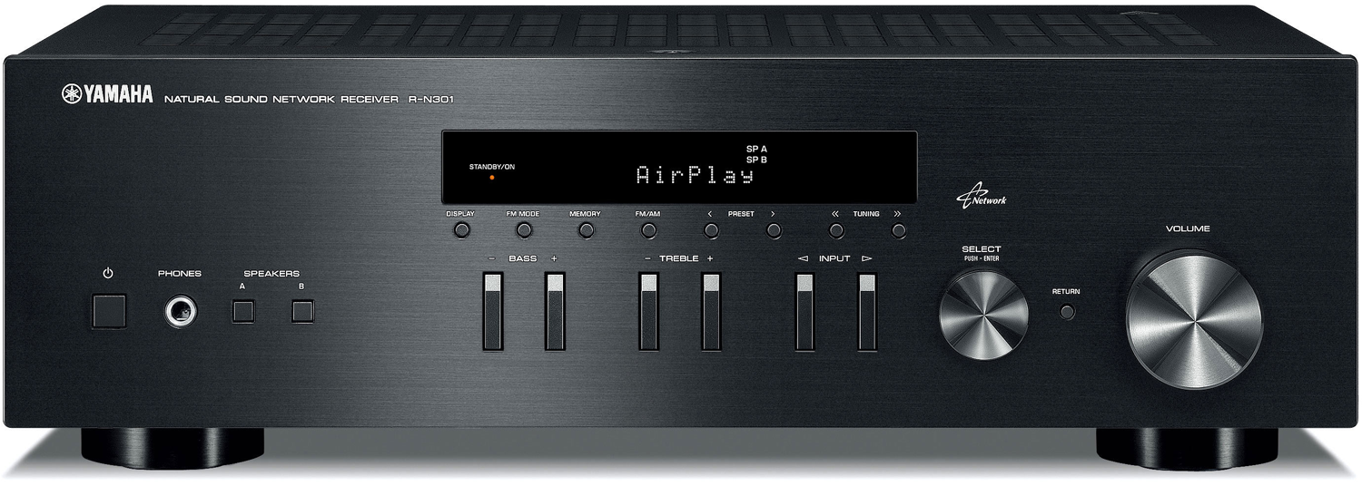 yamaha r n301 2 ch x 100 watts networking stereo receiver. Black Bedroom Furniture Sets. Home Design Ideas
