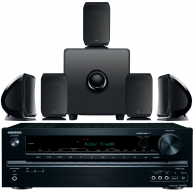 FOCAL SIB/CUB 5.1 Black Speaker Package & Onkyo TX-NR535