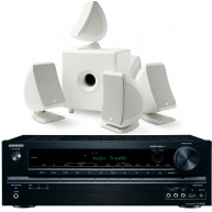 FOCAL SIB/CUB 5.1 White Speaker Package & Onkyo TX-NR535
