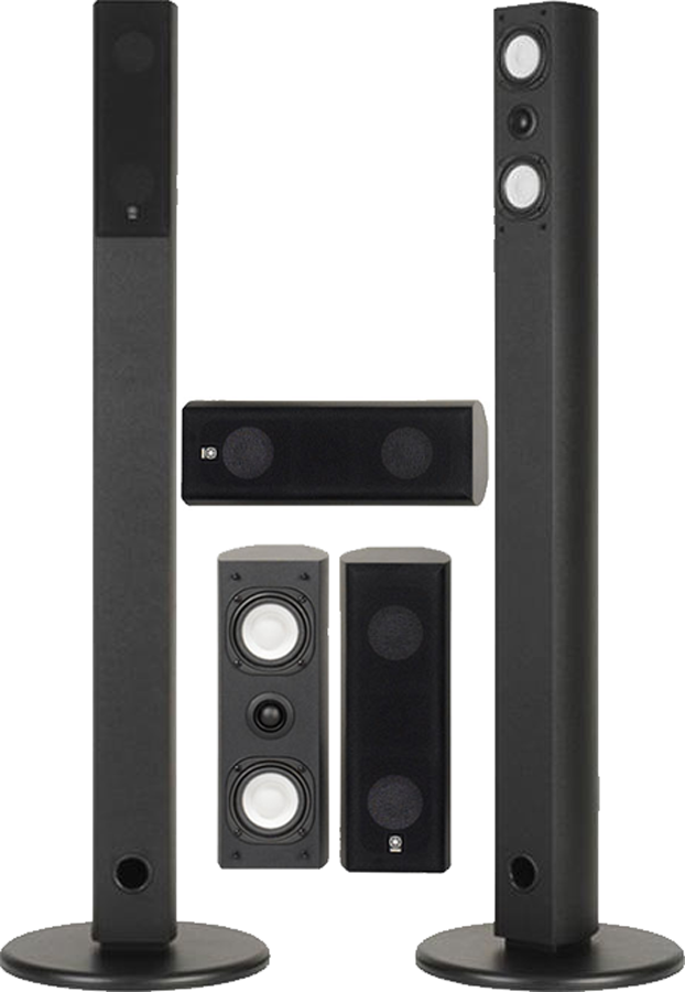 Yamaha ns ap7800 5pc home theater speaker package black for Home theater yamaha