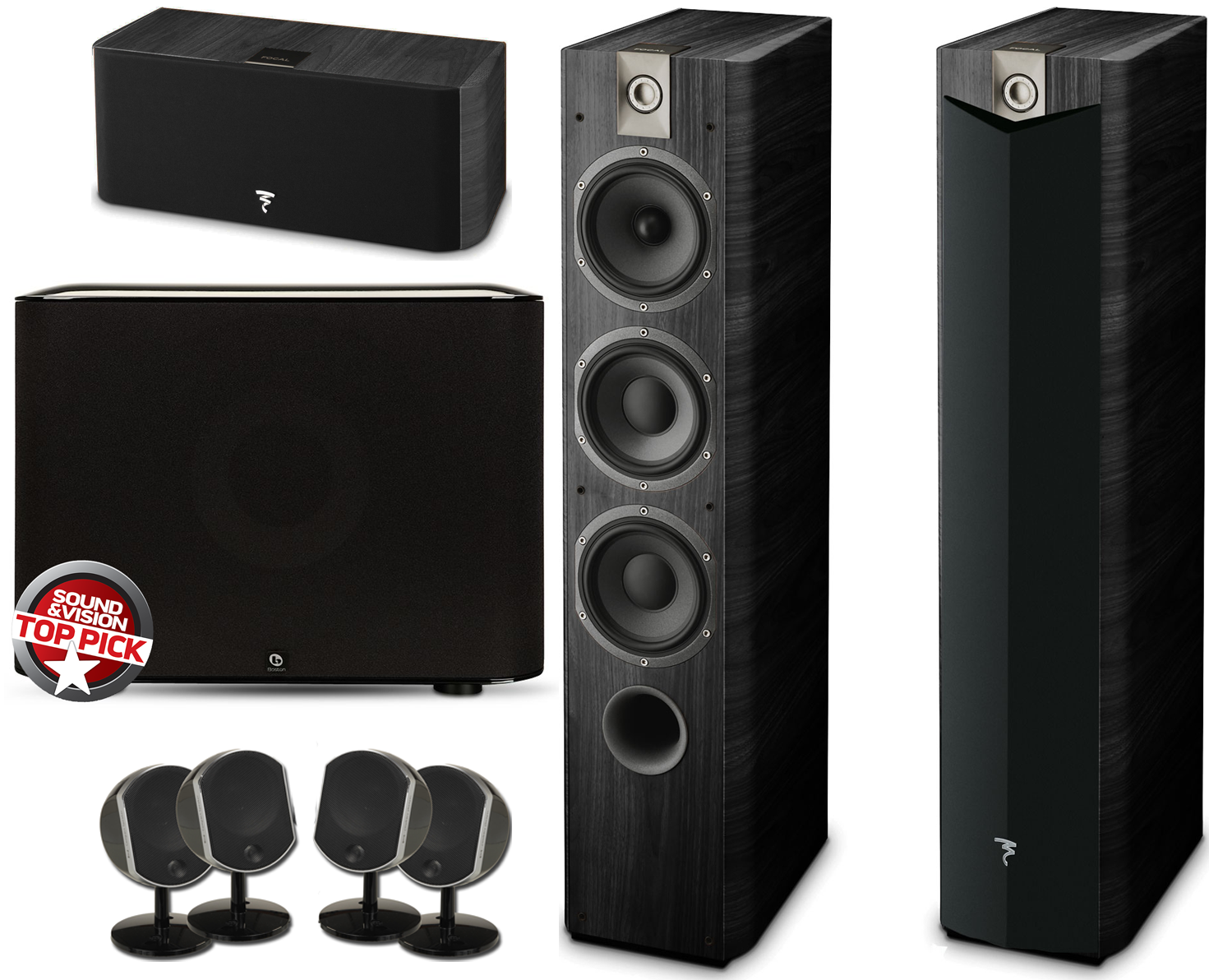 focal complete home theater speaker package w boston acoustics subwoofer accessories4less. Black Bedroom Furniture Sets. Home Design Ideas