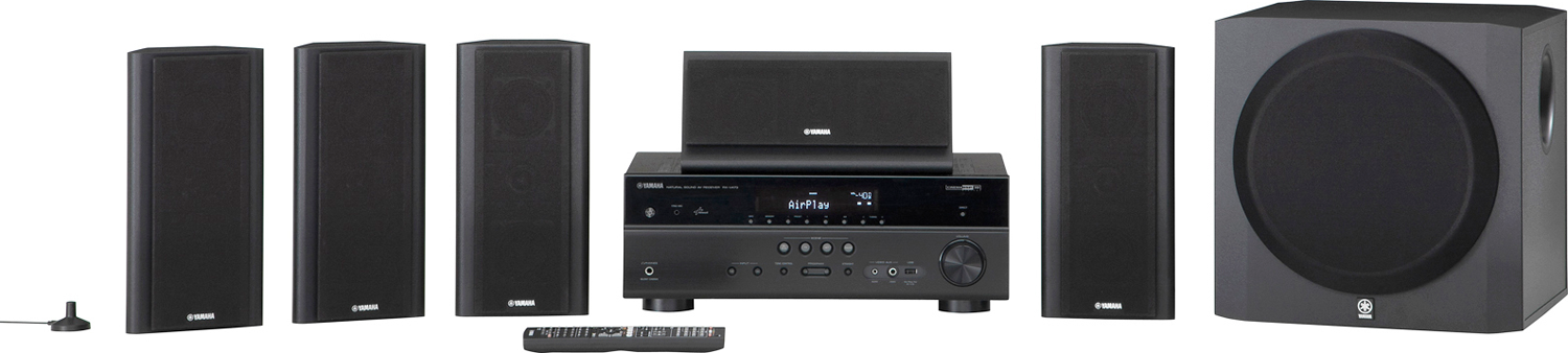Yamaha yht 797 5 1 channel home theater system for Yamaha home stereo systems