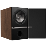 "KEF Q300 6.5"" 2-Way Bookshelf Speaker Walnut Pair"