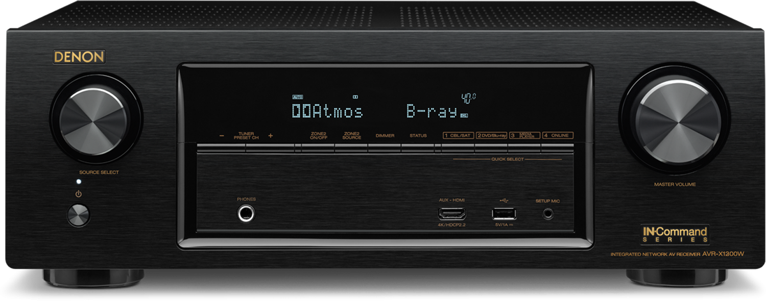 DENON AVR-X1300W 7.2-Ch x 80 Watts Networking A/V Receiver