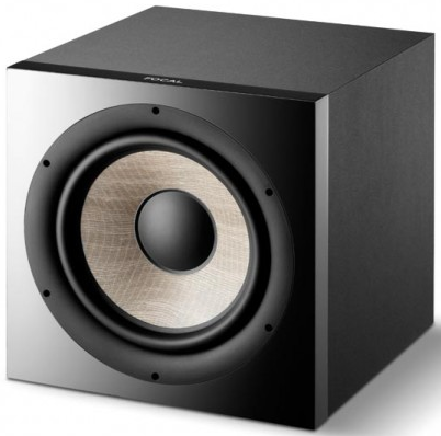 focal sub1000f 12 1000 watt powered subwoofer black accessories4less. Black Bedroom Furniture Sets. Home Design Ideas