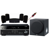 YAMAHA RX-V477 Receiver, NS-P1405 Speakers & YST-SW012 Subwoofer Package