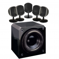 FOCAL Bird 5 pc Speakers & Sunfire HR-S8 8