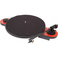 PRO-JECT Elemental USB/Preamp Belt Drive Turntable Red