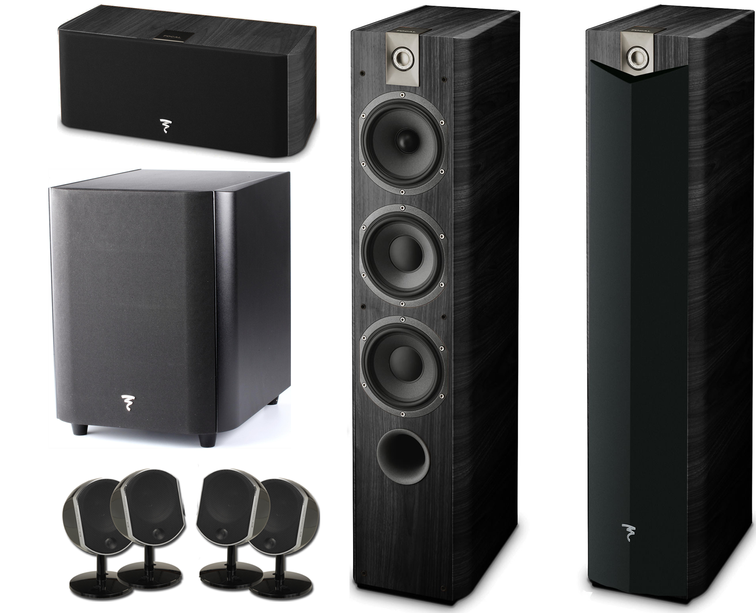focal 7 1 piece home theater package w focal sub300p subwoofer accessories4less. Black Bedroom Furniture Sets. Home Design Ideas