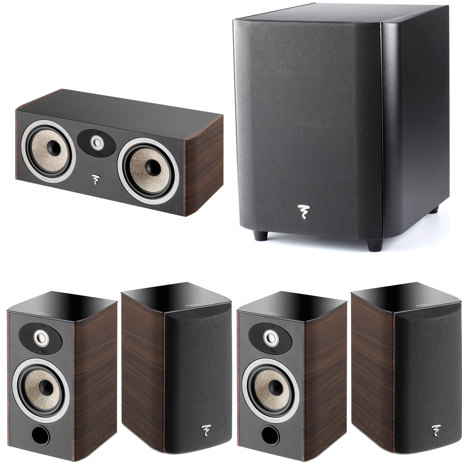 focal 5 1 piece home theater package w focal sub300p subwoofer accessories4less. Black Bedroom Furniture Sets. Home Design Ideas