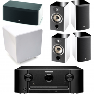 FOCAL Marantz SR5010 & Focal 5 Piece Home Theater Package w/ Cambridge X301 Subwoofer