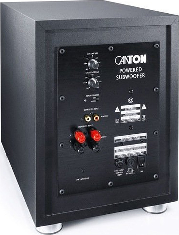 Canton Sub 10 2 10 Quot 300 Watt Powered Subwoofer Black