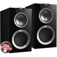 "KEF R300 R Series 6.5"" Bookshelf Speakers Gloss Black Pair"