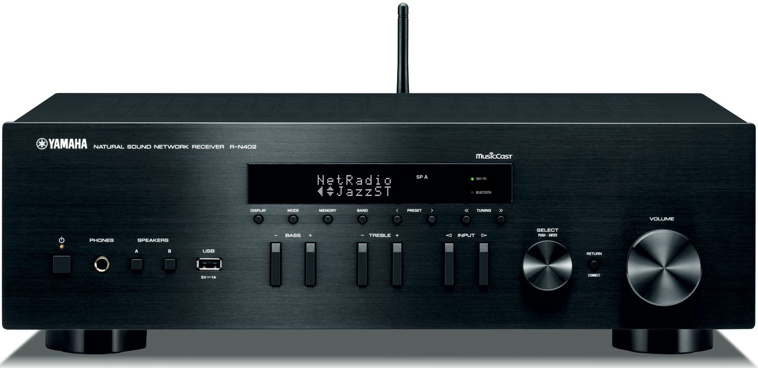 yamaha r n402 2 ch x 100 watts networking stereo receiver. Black Bedroom Furniture Sets. Home Design Ideas