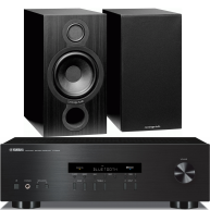 YAMAHA R-S202 2-Ch x 100 Watts Stereo Receiver & Cambridge Audio Aero 2 Bookshlef Speakers