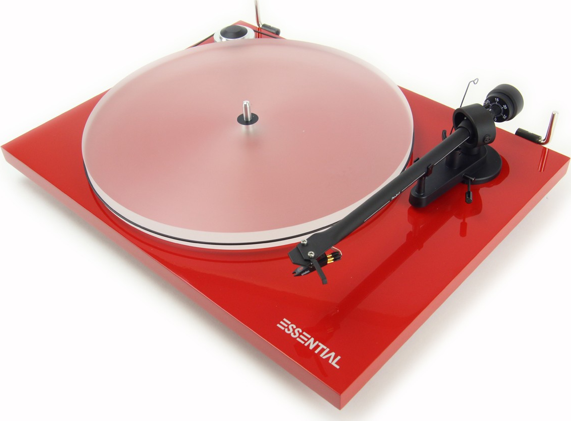 PRO-JECT Essential III Belt Drive Turntable Gloss Red