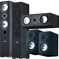 CANTON GLE 5 Piece Speaker Package Black