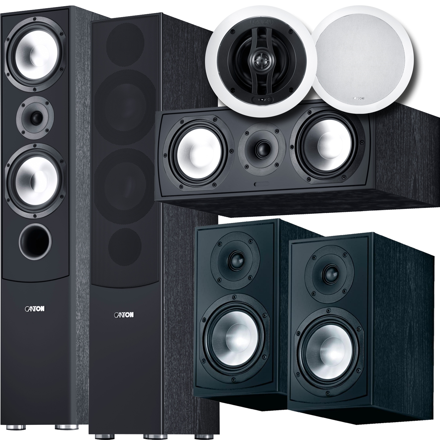 CANTON GLE 7 Piece Atmos Speaker Package Black