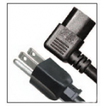 TRIBUTARIES CABLE Right Iec To Straight Nema Ac Power Cord 1-1/2ft