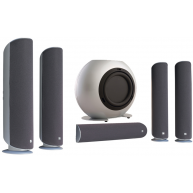 KEF KHT5005.2 Home Theater Speaker System In Matte Silver