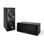 "KEF C6c Two Way 5¼"" Center / Lcr Speaker Each Black"