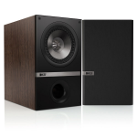 KEF Q100 Q Series 5-1/4 inch Walnut Bookshelf Speakers, pair
