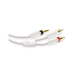 ETHEREAL 3.5mm Mini to Stereo 2 Male RCA 12ft White