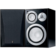"YAMAHA NS-6490 8"" 3-Way Bookshelf Speakers Black Pair"