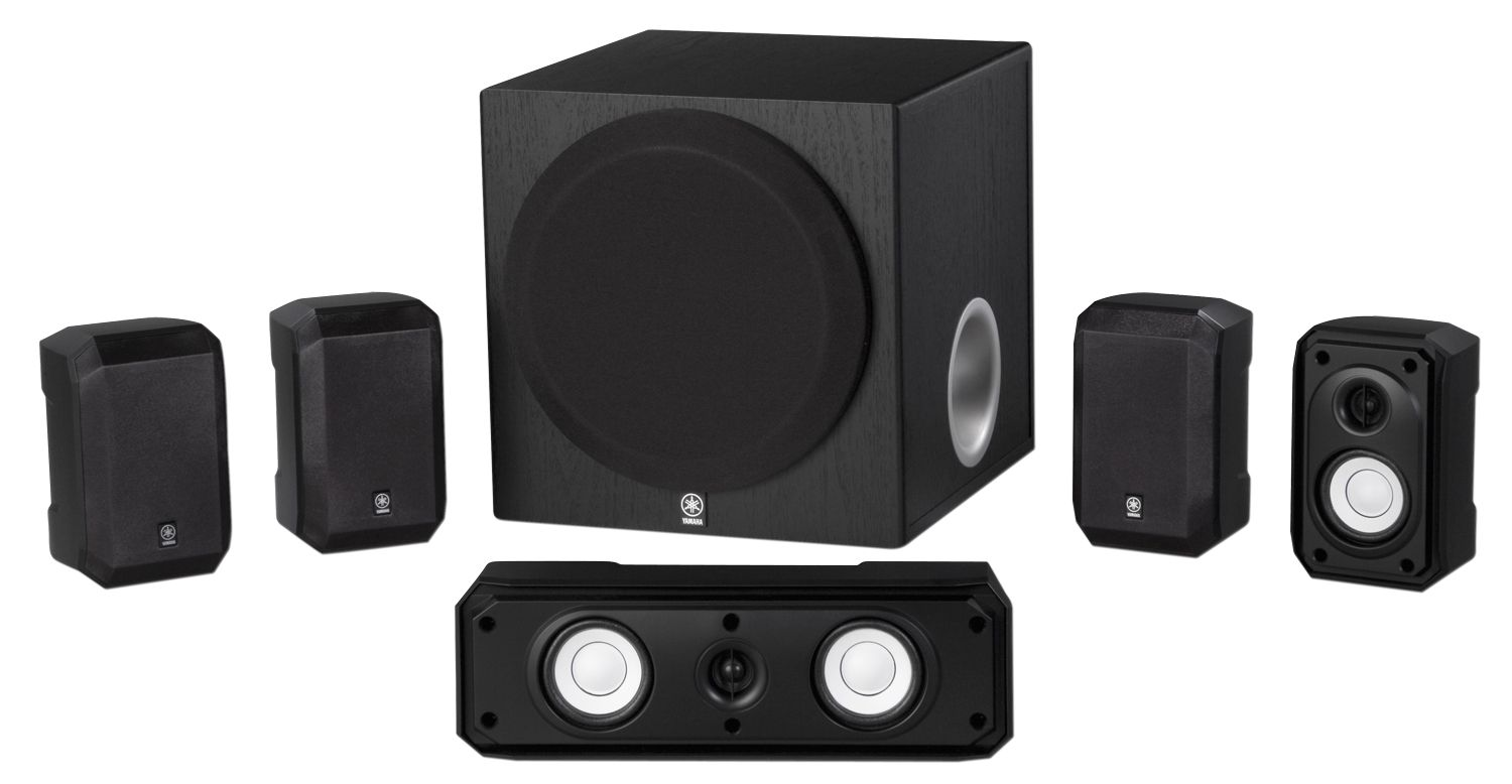 yamaha ns sp1800 5 1 speaker system w 8 subwoofer black