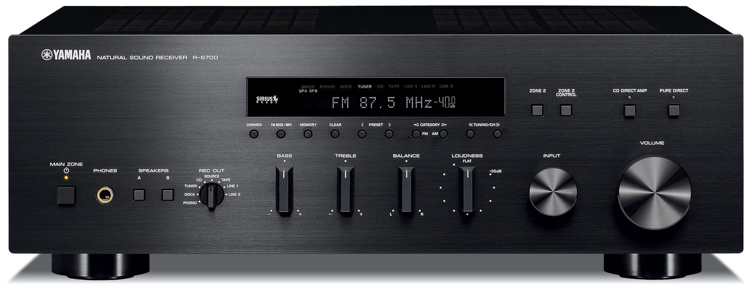Yamaha r s700 2 ch x 100 watts natural sound stereo for Yamaha multi zone receiver