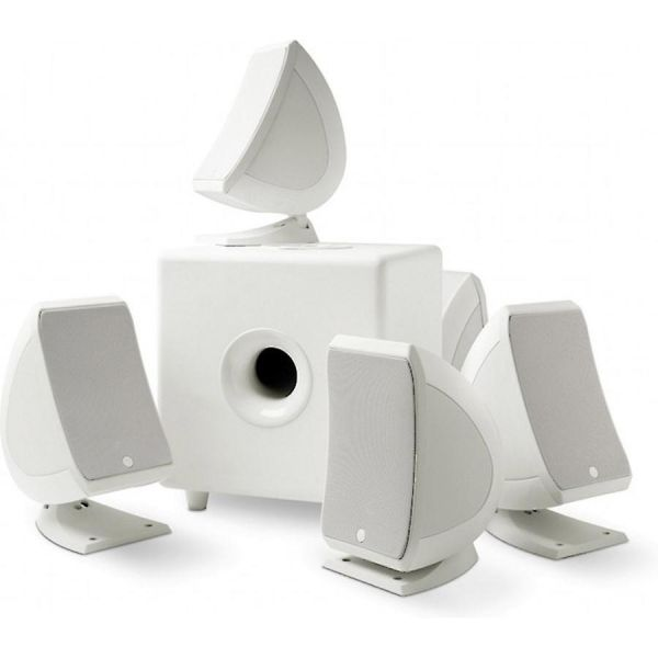 5 1 Sib & Cub3 Home Theater Speaker System White