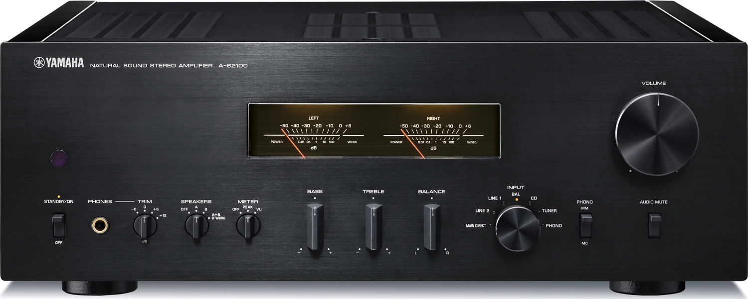 Yamaha a s2100 stereo integrated amplifier black for Yamaha thr amplifier